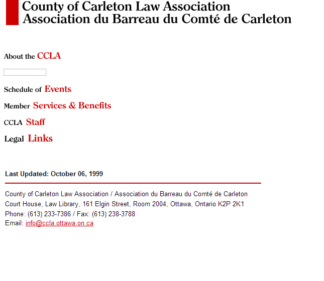 CCLA website as of October 1999