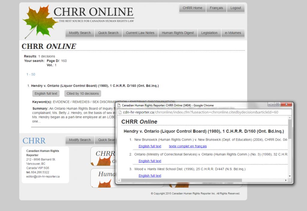 Resource Spotlight: CHRR Online – Robeside Assistance