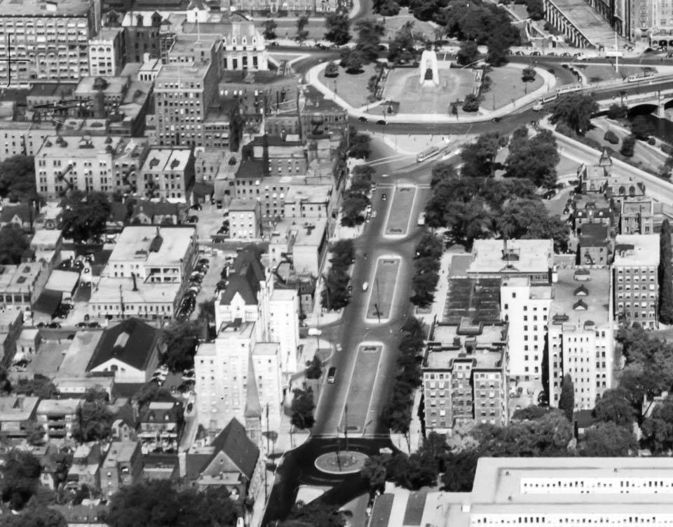 Elgin Street Arial View 1948