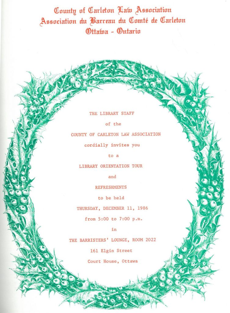 Holiday Party Flyer, 1986