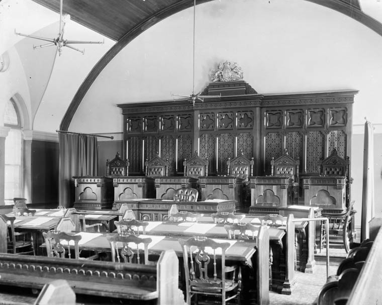 Interior of the old Supreme Court of Canada.