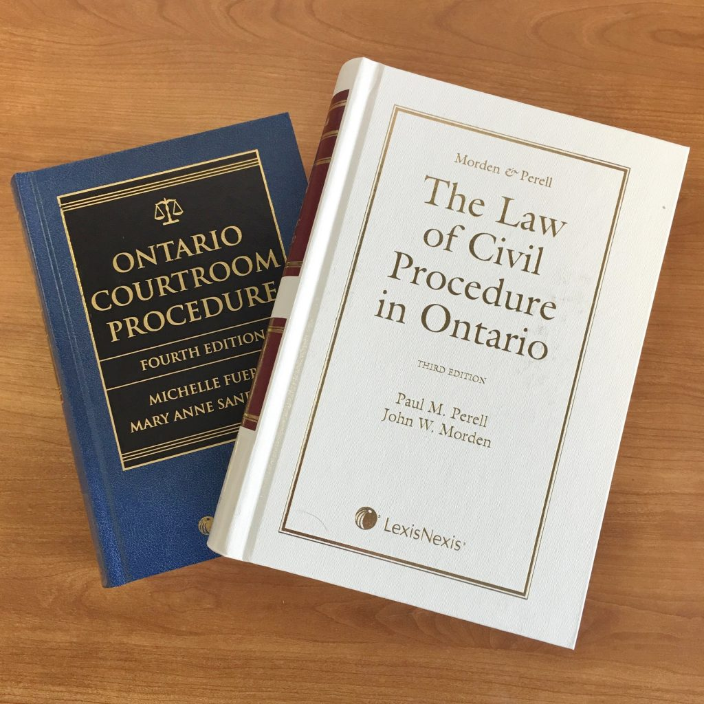 "Image of ""Ontario Courtroom Procedure"" and ""The Law of Civil Procedure in Ontario"""