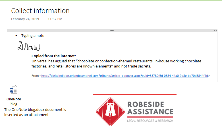 Cool Tools: OneNote – Robeside Assistance